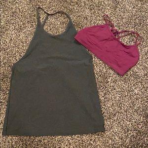 Fabletics Ciara tank and Dash seamless bra